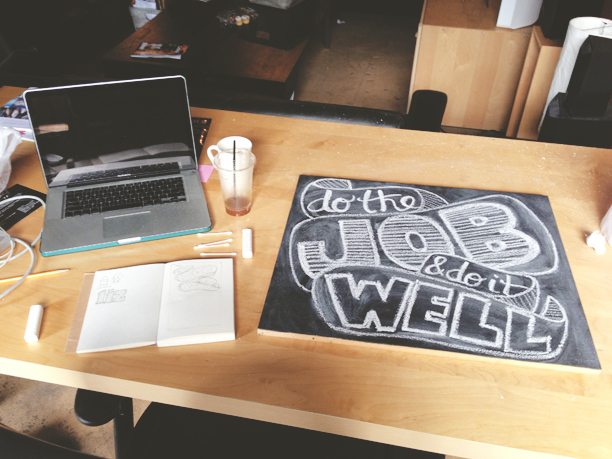 Paste Intern Design Challenge: Chalkboard Lettering