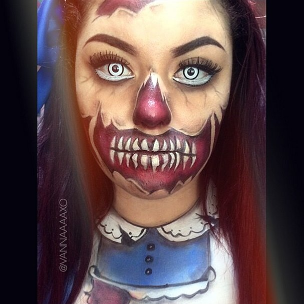 alice wonderland - Halloween Facepaint