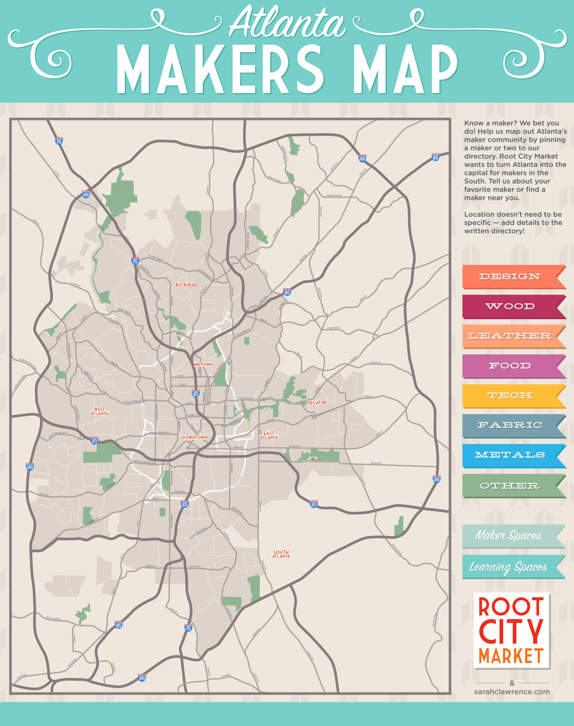 The Atlanta Makers Map Sarah Lawrence